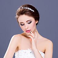 Dame / Blomsterpige Rhinestone / Legering Headpiece-Bryllup / Spesiell Leilighet / Avslappet Diademer / Pannebånd 1 Deler Klar Rund