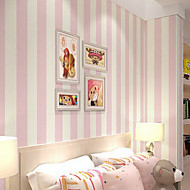 New Rainbow™ Contemporary Wallpaper Stripe Non-woven special wallpaper Wall Covering Non-woven Fabric Wall Art
