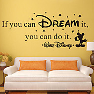 adesivos de parede parede estilo decalques se você pode sonhar palavras inglesas&cita parede adesivos pvc
