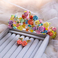 Fashion Colorful Color With Polymer Clay And Pearl Tiara And Ear Clip Set Packing(Set Of 2) A1049QJ