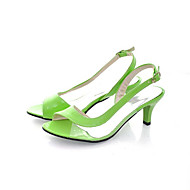 Girls' Shoes Dress Heels  Sandals Black/Yellow/Green/Pink/Red/White Gifts (insoles, laces, shoe, socks, color stone