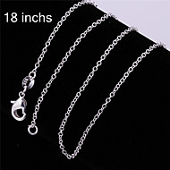 Necklace Chain Necklaces Jewelry White Sterling Silver Party / Daily / Casual 1pc Gift