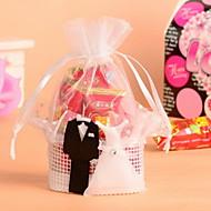Geschenktaschen ( Weiß , Organza/Vließstoff ) - Nicht personalisiert - Hochzeit/Jubliläum/Brautparty