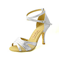 Customizable Women's Dance Shoes Leatherette Leatherette Latin / Salsa Sandals Customized Heel Practice / Beginner / Professional / Indoor