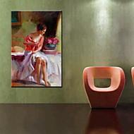 Картины маслом одна панель современные люди ручная роспись холст готовы повесить