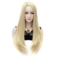 """27.6 """"sexy cosplay larga del partido del traje del anime del pelo recto pelucas llenas 70cm luz de estilo u rubia"""