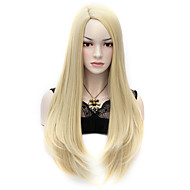 "27,6 ""70cm ljusblond u stil sexig långa raka anime hår cosplay dräktpartyet fulla peruker"
