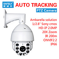 HD 1080P Auto Tracking ONVIF 2.2 Network Security Outdoor PTZ IR Camera