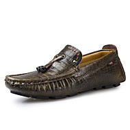 Men's Shoes Wedding / Office & Career / Party & Evening / Dress / Casual Nappa Leather Loafers Blue / Brown