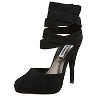 Women's Shoes Suede Stiletto Heel Heels Pumps/Heels Wedding/Office & Career/Dress Black/Purple/Gray