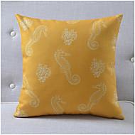 Modern Style Sea Horse Pattern Cotton/Linen Decorative Pillow Cover