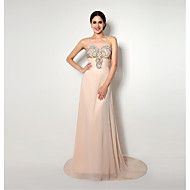 Cocktail Party/Formal Evening Dress Sweetheart Sweep/Brush Train Chiffon Dress