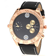 JUBAOLI® Unisex Fashion Dual Time Display PU Band Quartz Wrist Watch Cool Watch Unique Watch