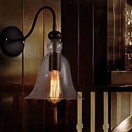 אור קיר רטרו maishang® עם אהיל זכוכית פרחוני וסוגר מתכת