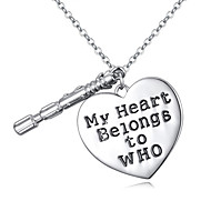 Women's European Style Boutique My Heart Will Belongs to Whom Necklace