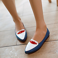 Women's Shoes Flat Heel T-Strap Flats Outdoor/Casual Black/Blue/Red