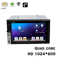 "Quad Core 7"" 2DIN Universal Android 4.2 Car HD 1024*600 3G Build-in with WCDMA Communication Function With Wi-Fi GPS BT"