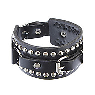 Unisex The Influx Of People In Europe And America Rivet Punk Leather Bracelet