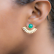 Women's Fashion Metal Sector Stud Earrings