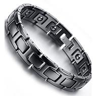 "Mens Tungsten Bracelet, Black, 7.9"" kb1947"
