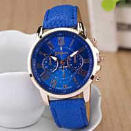 Женские Модные часы Кварцевый PU Группа Черный Белый Синий Фиолетовый