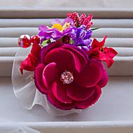 Dame/Blomsterpige Blonde/Rhinestone/Krystall/Legering Headpiece Bryllup/Spesiell Leilighet/Utendørs BaretteBryllup/Spesiell