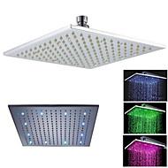 12'' LED Square Bathroom Bath Rain Shower Head Only Brass Chrome Finish