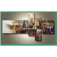 Handgeschilderde Abstract Elke vorm Vier panelen Canvas Hang-geschilderd olieverfschilderij For Huisdecoratie