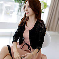 Wedding Wraps Long Sleeve Lace/Polyester Elegant Boleros Black/Beige Bolero Shrug