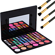 78 Colors Pro Cosmetic Makeup Pigment Kit Eye Shadow Blush Palette Lip Gloss Tools+4PCS Pencil Makeup Brush