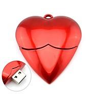 romântico coração vermelho modelo usb 2.0 memória pen drive flash de vara 4gb
