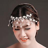 Bride Wedding Banquet White Crystal Handmade Headdress