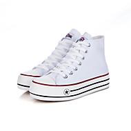 Women's Shoes Canvas Platform Basic Pump/Comfort/Round Toe Pumps/Heels Casual Black/Blue/Red/White
