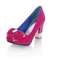 נעלי נשים - בלרינה\עקבים - סינטתי - עקבים / בלרינה בייסיק / שפיץ - שחור / כחול / ורוד / בורגונדי / אלמוג - משרד ועבודה / שמלה / קז'ואל -