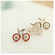 Cute Lifelike Bike Earrings
