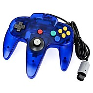 Translucent Blue Wired Game Controller for N64 Console