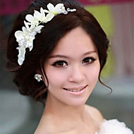 Flower Shape Pearl Hair Flower Bride Hair Wedding Headdress Wedding Accessories One Piece