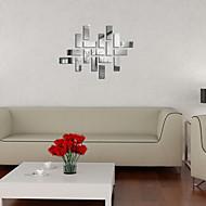 etiquetas engomadas de la pared de la pared de espejo, geometría espejo bricolaje pegatinas de pared de acrílico