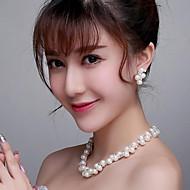 Damen Schmuck-Set Künstliche Perle Künstliche Perle