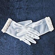 K zápěstí Bez špiček Rukavice Tyl Pro nevěstu