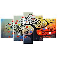 visuele star®tree opgespannen doek schilderen druk set van 5 panel van hoge kwaliteit canvas klaar te hangen
