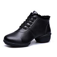 Düşük Topuk - Deri - Dans Sneaker Ayakkabıları - Kadın's - Sigara Özelleştirilebilir