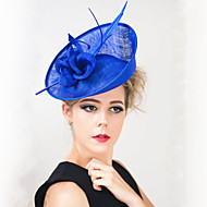 Women Wedding Party Feather Sinamay Fascinator SFC12389