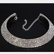 European Style Fashion Five Rows of Rhinestone Bride Necklace