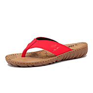 Women's Shoes Leather Flat Heel Comfort Sandals Outdoor/Athletic/Casual Brown/Red