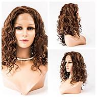 El pelo del frente del cordón 16inch pelucas pelucas del estilo del pelo 100% del cordón del pelo humano ondulado frente virgen mongol