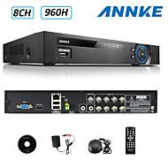 annke® 8ch entrada AHD-l 960H DVR multi-modo ecloud 1080p / VGA / HDMI saída BNC vista remoto, código do qr p2p varredura