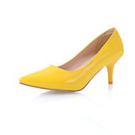 נעלי נשים - בלרינה\עקבים - דמוי עור - עקבים / שפיץ - שחור / כחול / צהוב / אדום / לבן / זהב - משרד ועבודה / שמלה - עקב סטילטו