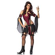 Retro Black Chiffon & Spandex Halloween Female Vampires Costumes