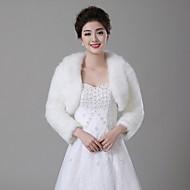 Wedding  Wraps Boleros Faux Fur Ivory